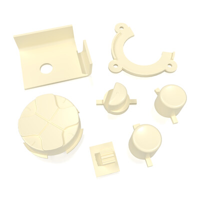Game Gear Buttons (Cream White)