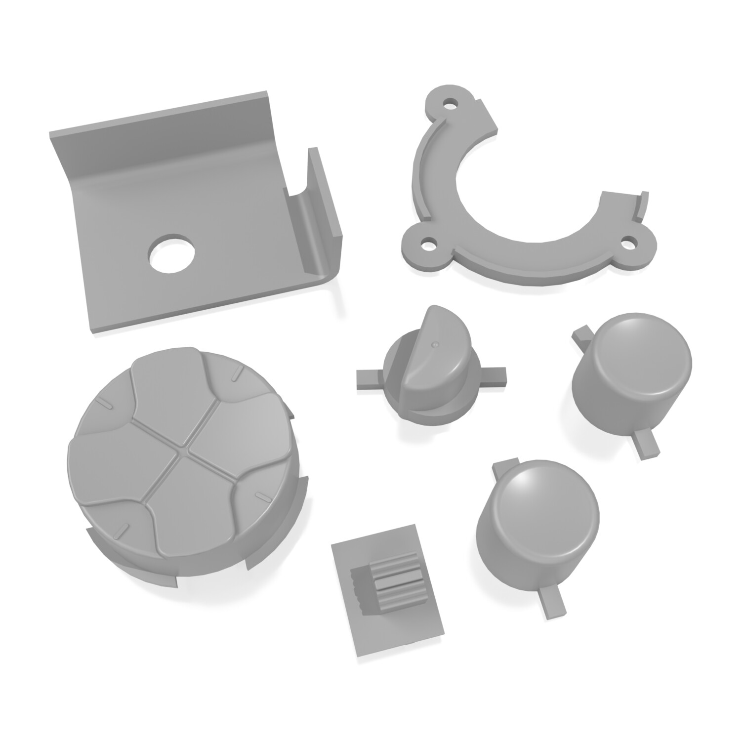 Game Gear Buttons (Grey)