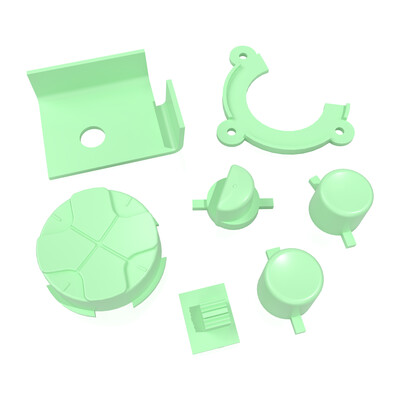 Game Gear Buttons (Light Green)