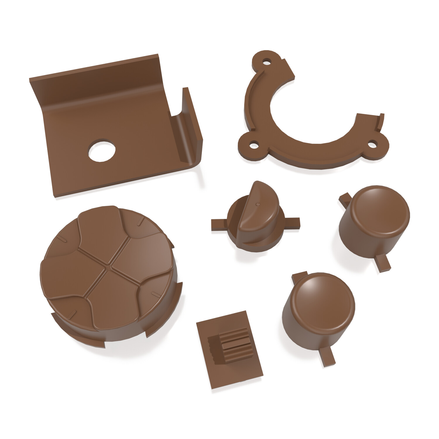 Game Gear Buttons (Mocha Brown)