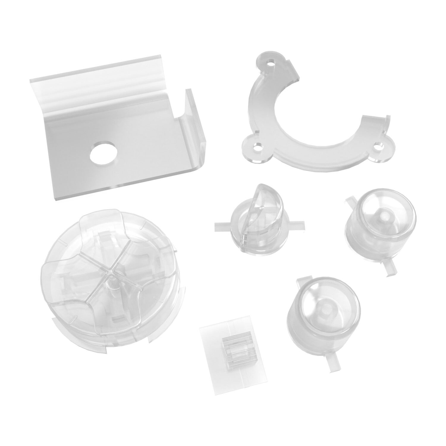 Game Gear Buttons (Clear)