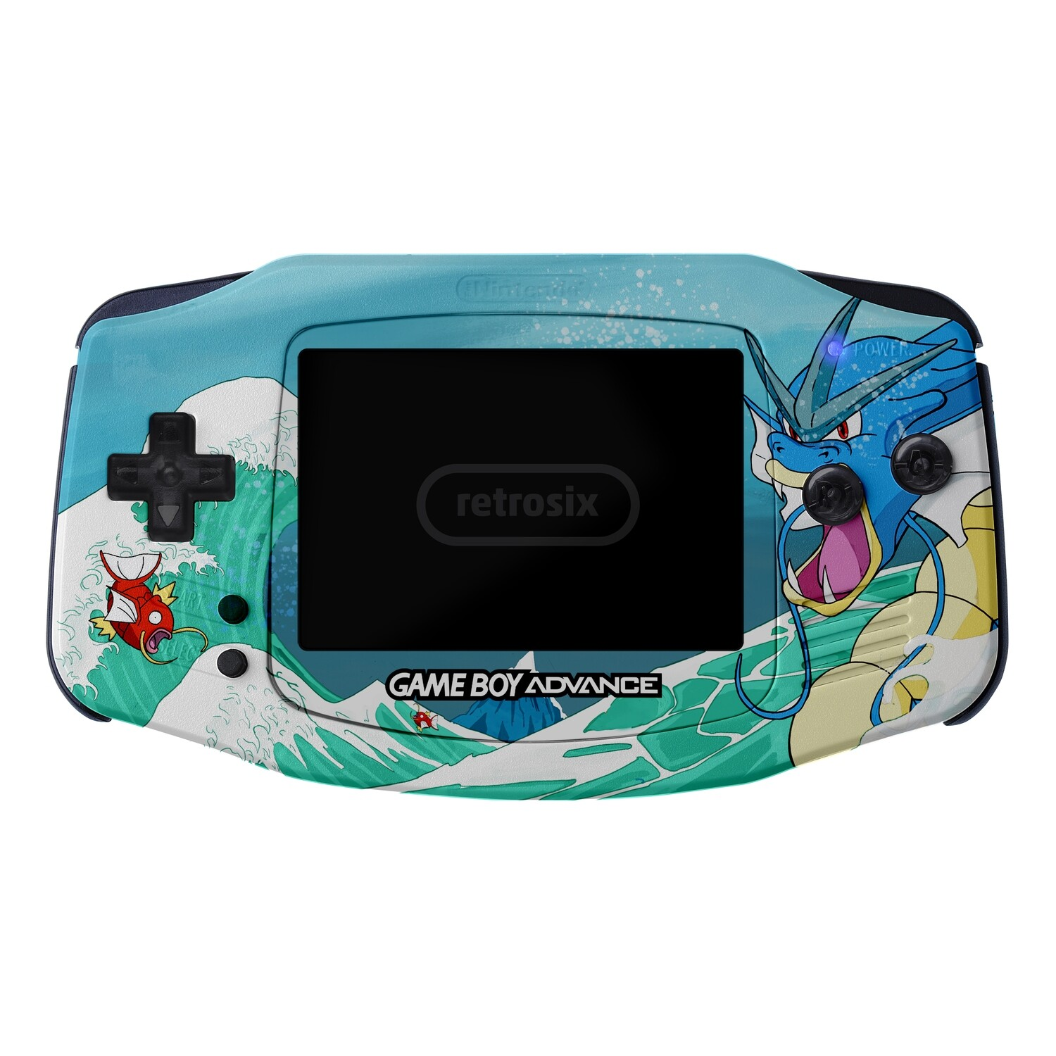 Game Boy Advance IPS UV Print Shell Kit (Gyarados)