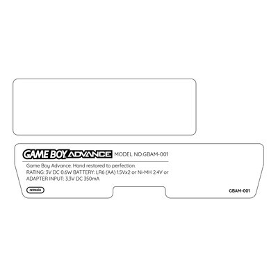 Game Boy Advance Back Sticker Set (Custom Design)