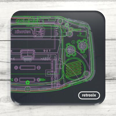 Drinks Coaster (Game Boy Advance Wireframe)