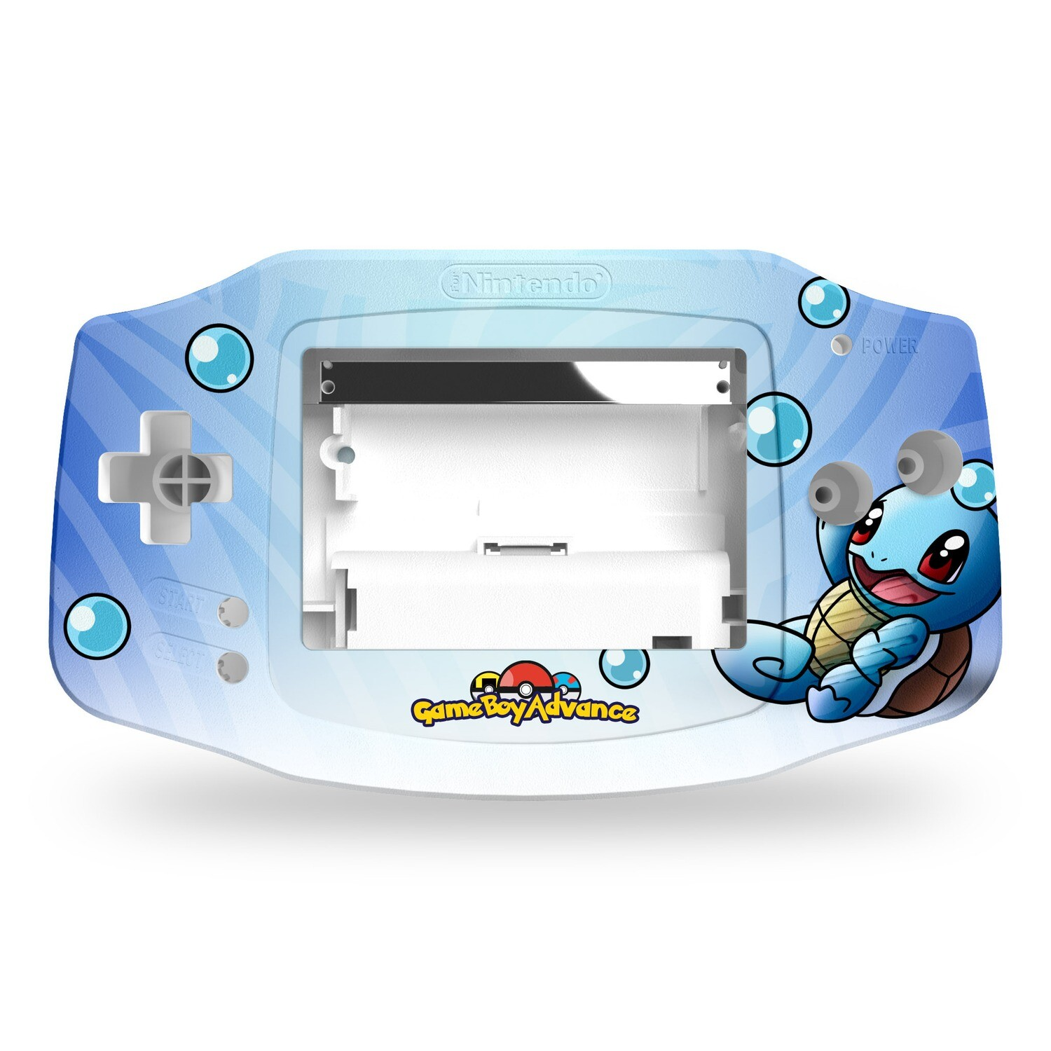 Game Boy Advance Printed Shell (Squirtle Pokemon)