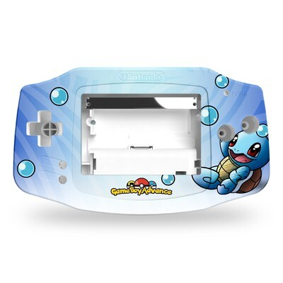 Game Boy Advance UV Print Shell Kit (UV Squirtle Pokemon)