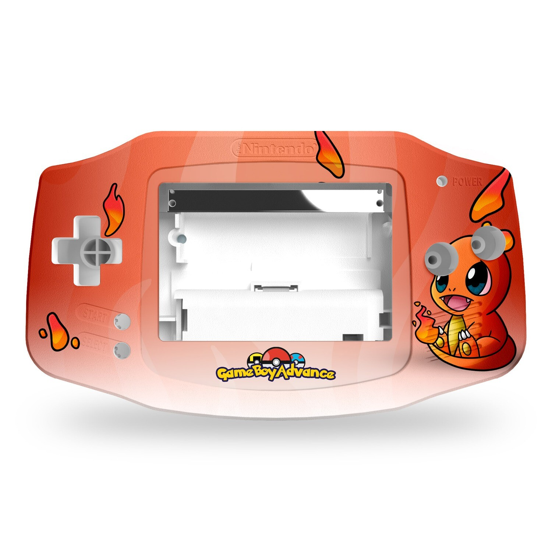 Game Boy Advance Printed Shell (Charmander Pokemon)