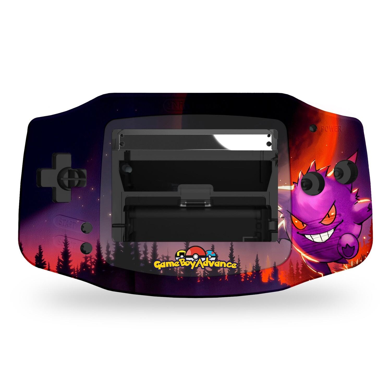 Game Boy Advance Printed Shell (Gengar Pokemon)