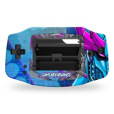 Game Boy Advance UV Print Shell Kit (UV Cyber Samurai)