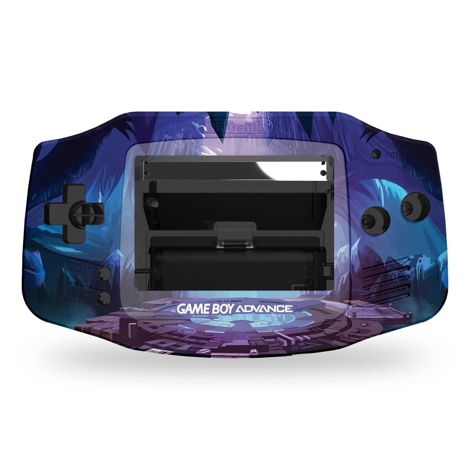Game Boy Advance Printed Shell (Cave Portal)