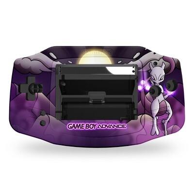Game Boy Advance UV Print Shell Kit (Mewtwo Pokemon)