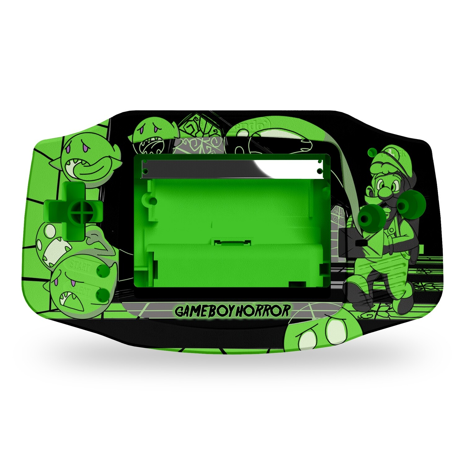 Game Boy Advance Printed Shell (Luigi Horror)