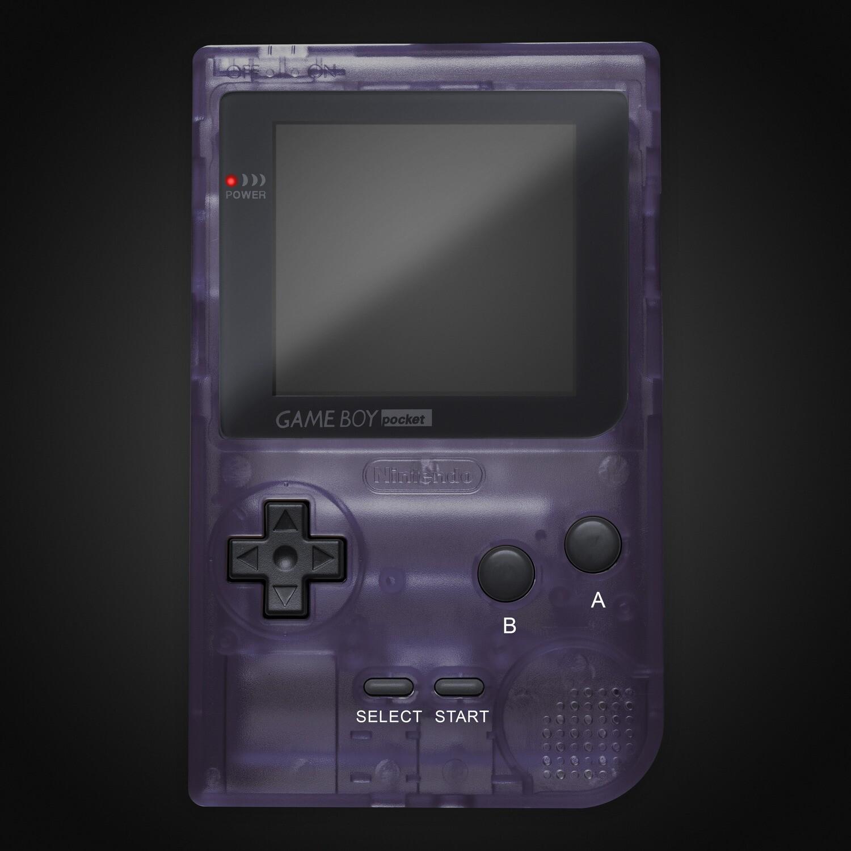 Game Boy Pocket Shell Kit (Clear Purple)