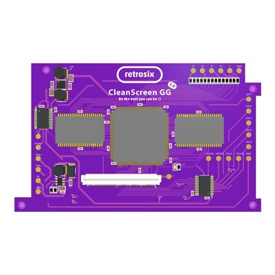 Game Gear CleanScreen (TFT or IPS Compatible)