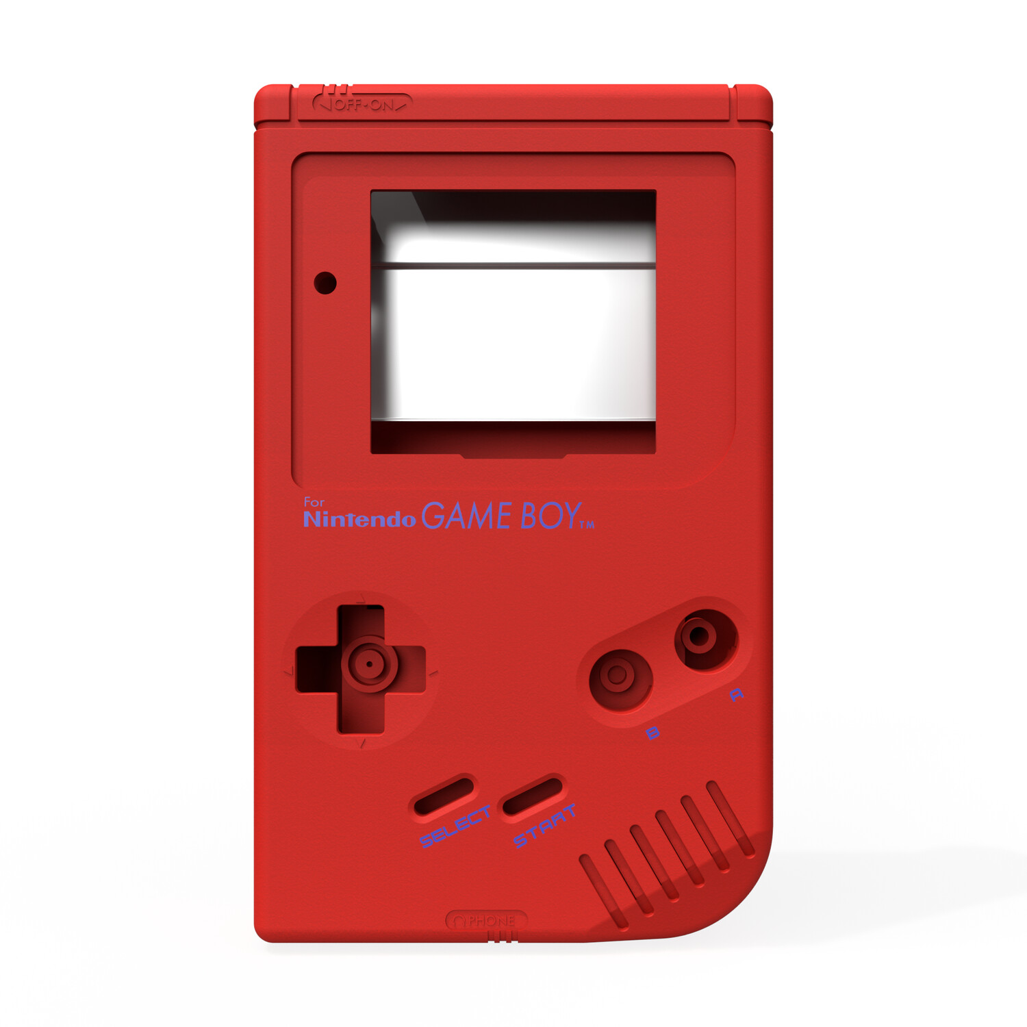 Game Boy Original Shell Kit (Pearl Red)