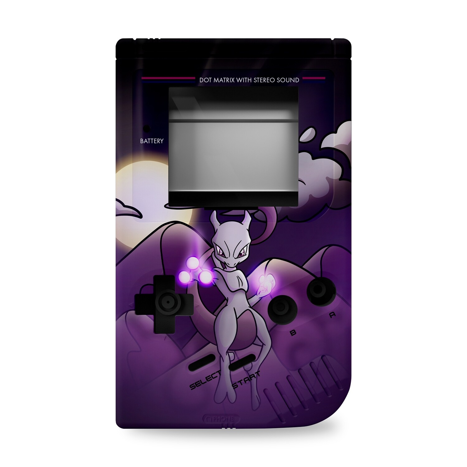 Game Boy Original Printed Shell (Mewtwo Pokemon)