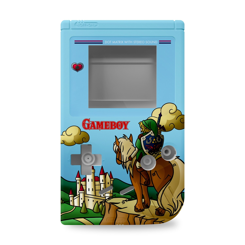 Game Boy Original Printed Shell (Zelda Link Field)