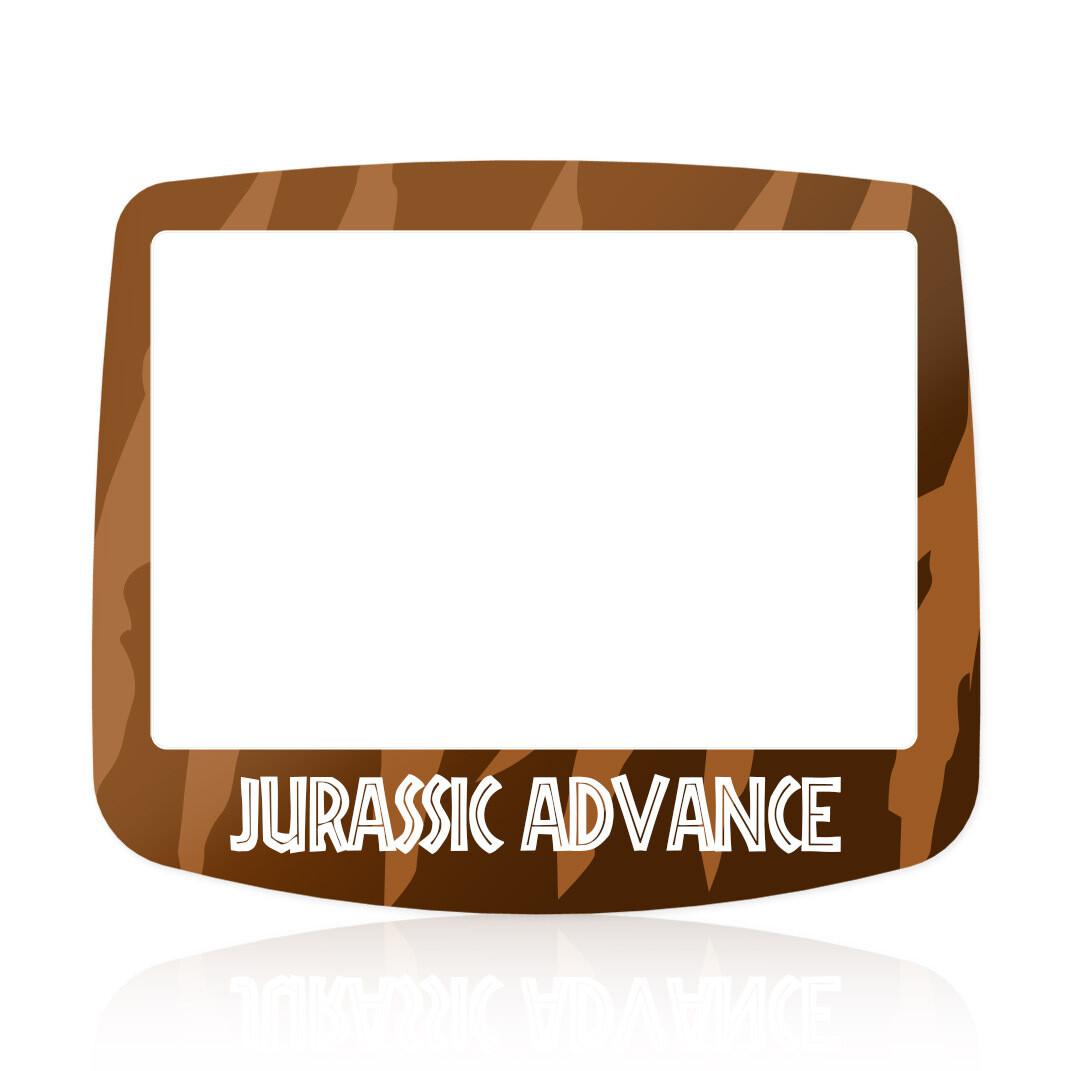 Game Boy Advance IPS Glass Screen (UV Jurassic Park)