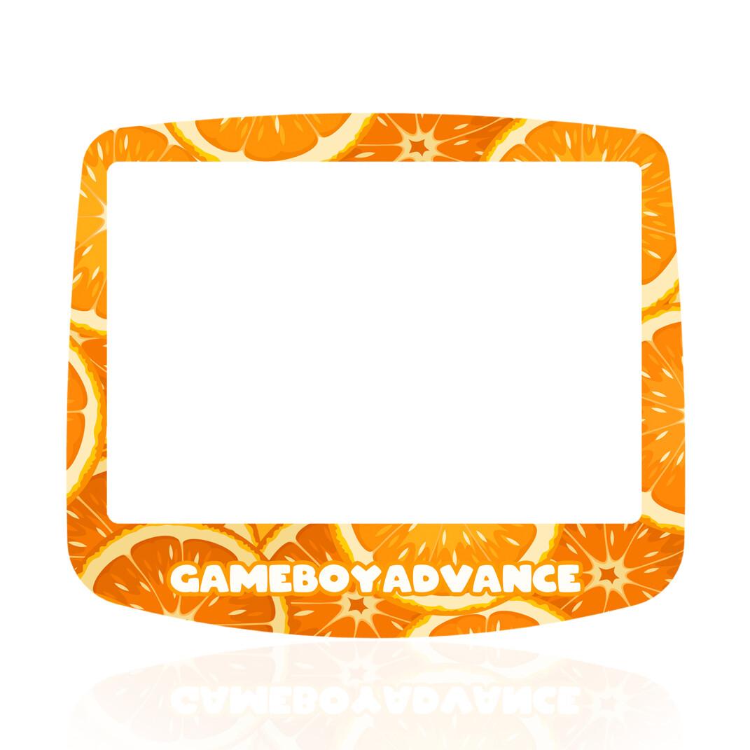 GBA IPS Glass Screen (UV Orange Fruity)