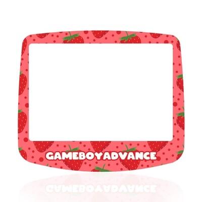 GBA IPS Glass Screen (UV Strawberry Fruity)