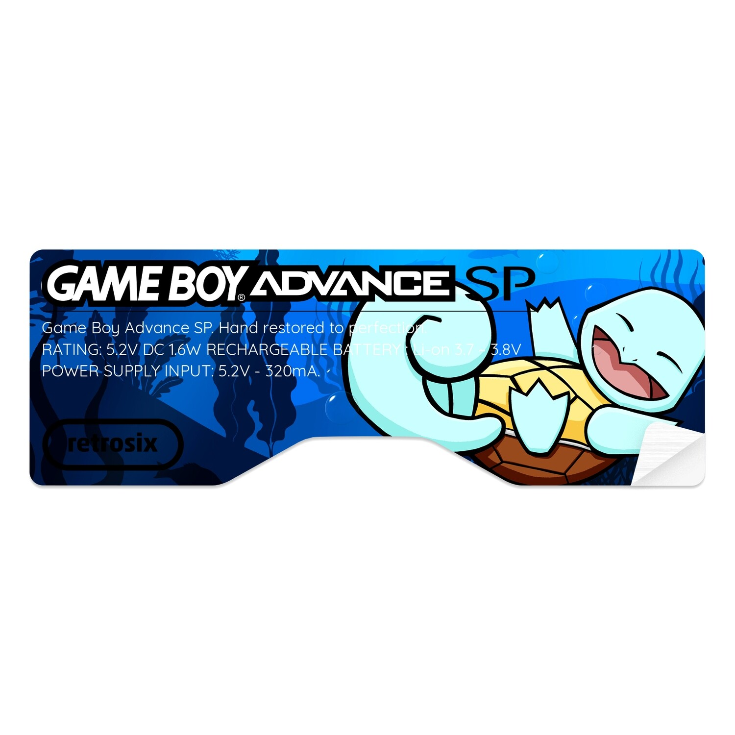 Game Boy Advance SP Sticker (Squirtle by JW)