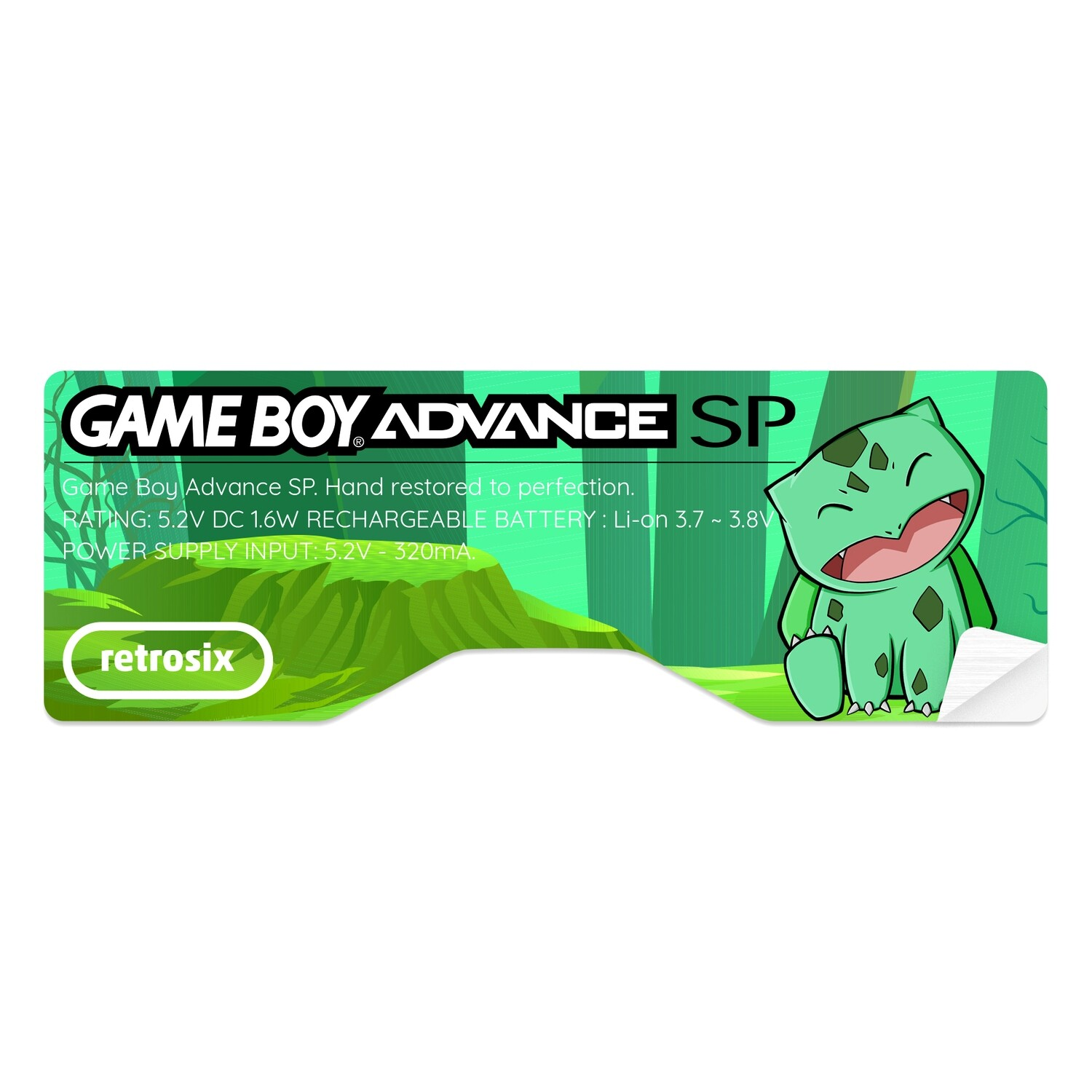 Game Boy Advance SP Sticker (Bulbasaur by JW)