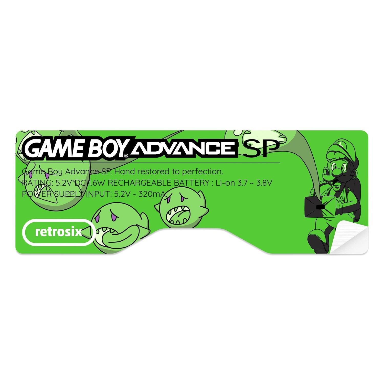 Game Boy Advance SP Sticker (Luigi Horror)