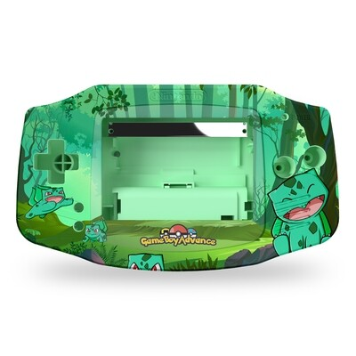 Game Boy Advance Printed Shell (Bulbasaur Forest By JW)