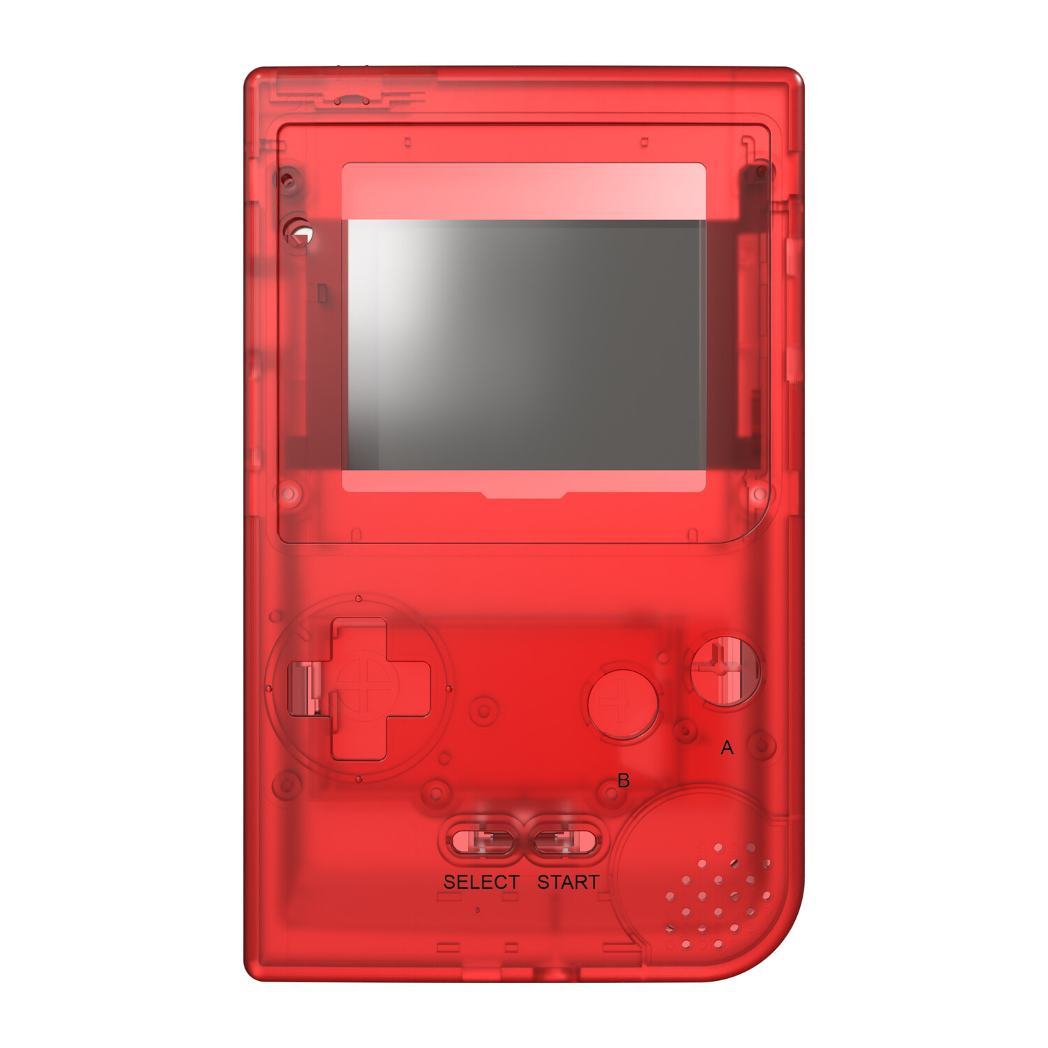 Game Boy Pocket Shell (Clear Red)