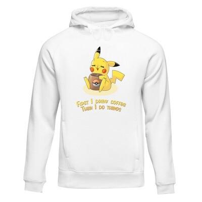 College Hoodie (Pikachu Coffee by AngelSix)