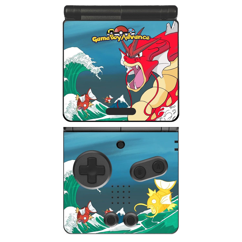 Game Boy Advance SP Decal (Red Gyarados)