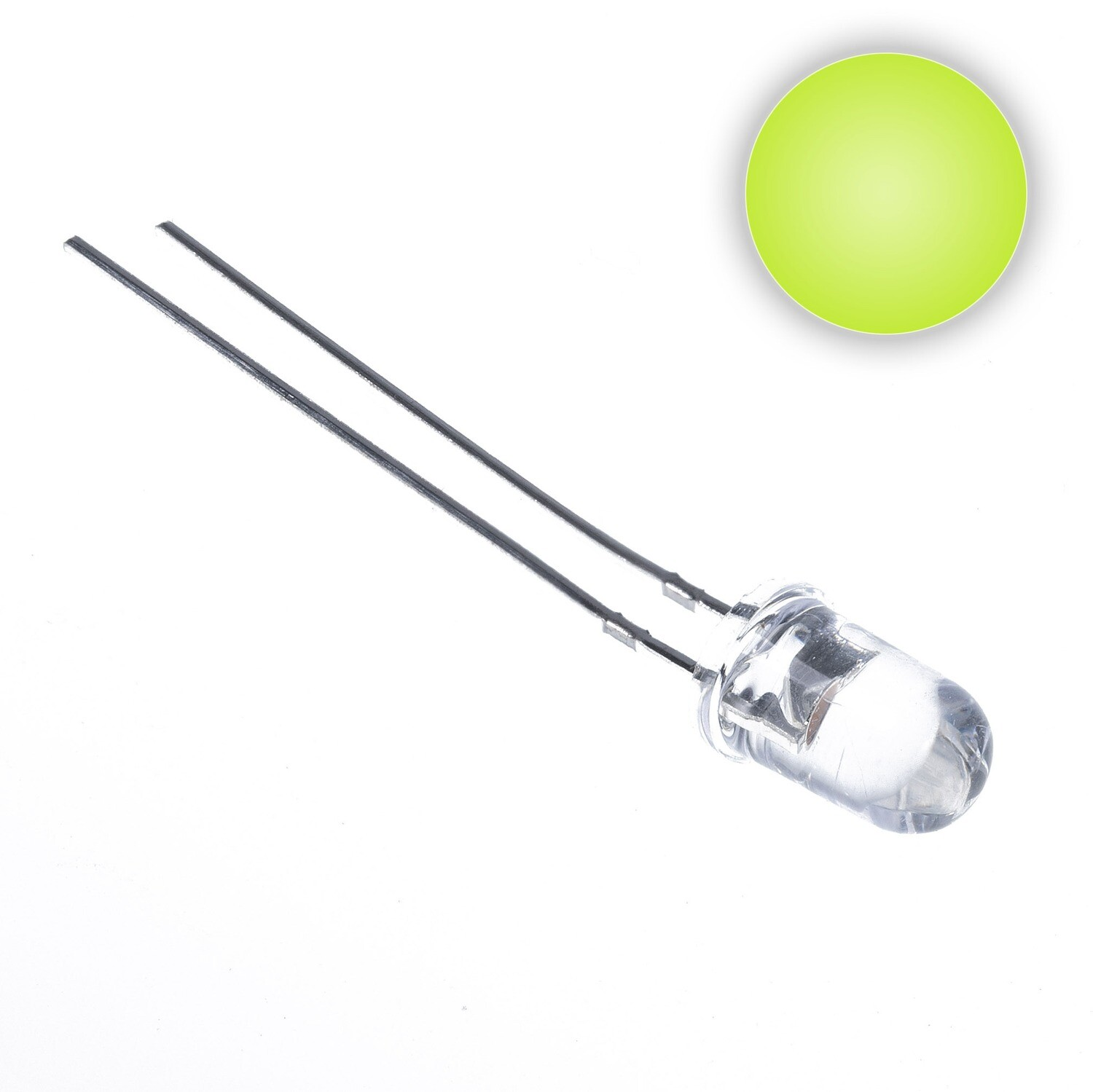 5mm Water Clear LED (Lime Green)
