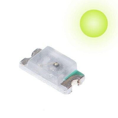 10x 0603 LEDs (Lime Green)