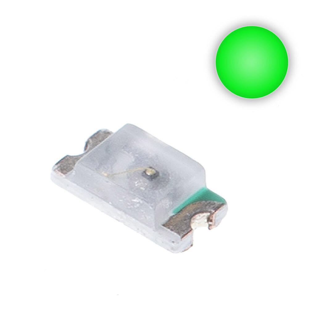 10x 0603 LEDs (Green)