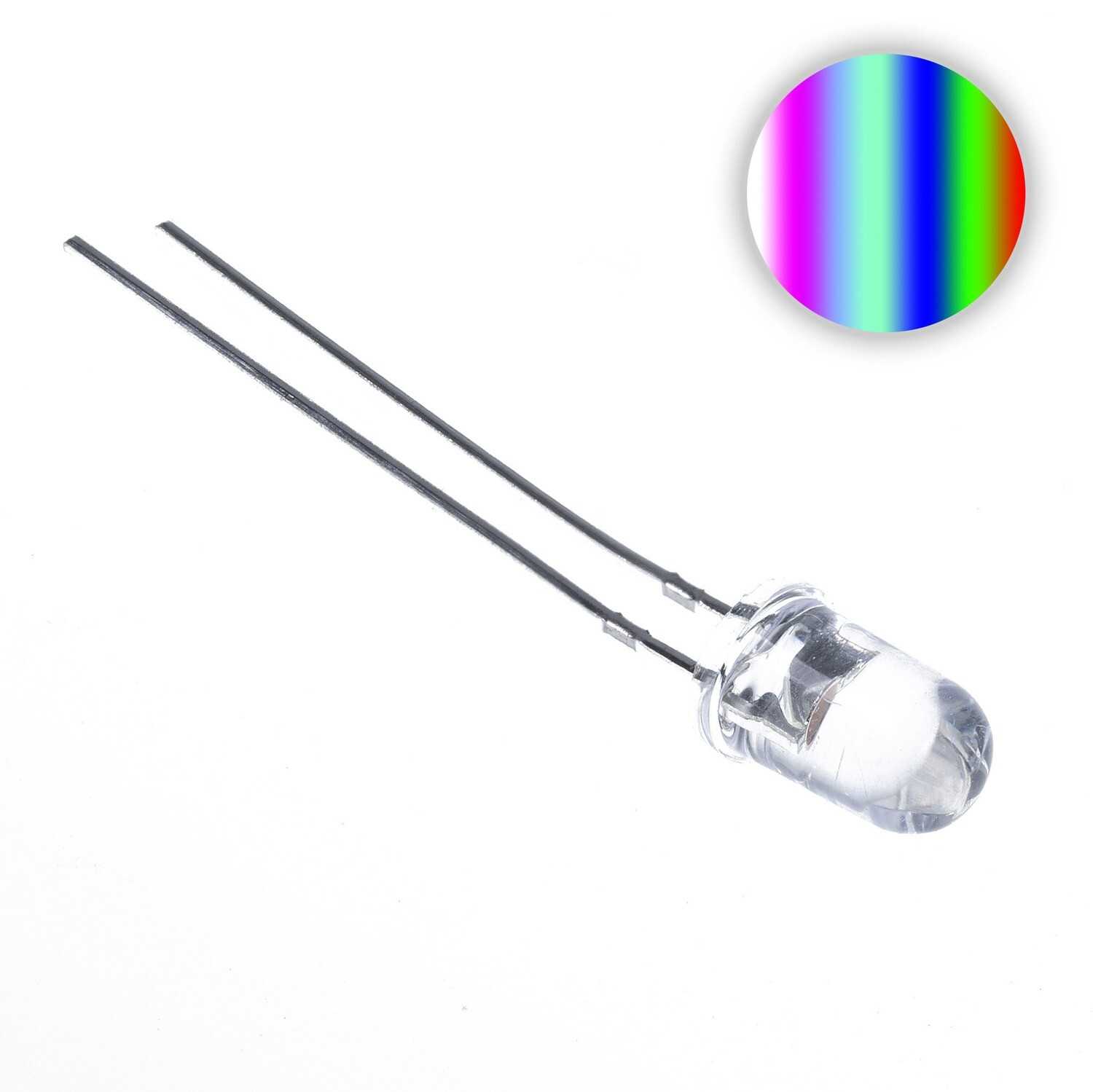 5mm Water Clear LED (Rainbow Slow)
