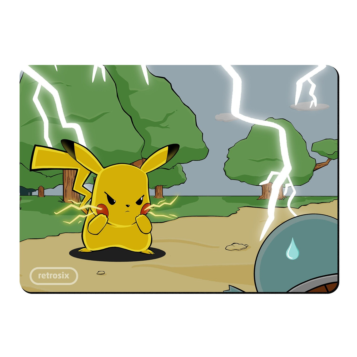 Mouse Mat (Angry Pikachu)