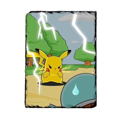Angry Pikachu Photo Slate