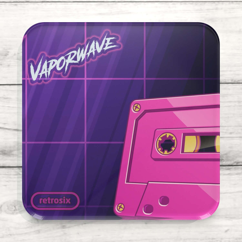 Drinks Coaster (Vaporwave Tape)