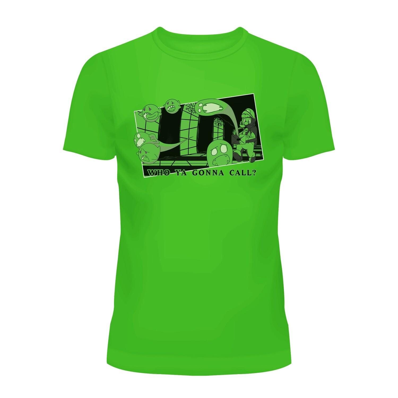 Cotton T-Shirt (Luigi Who Ya Gonna Call)