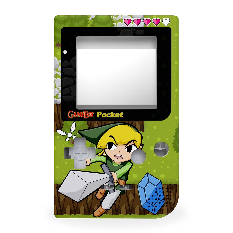 Game Boy Pocket Printed Shell (Zelda Link With Navi)