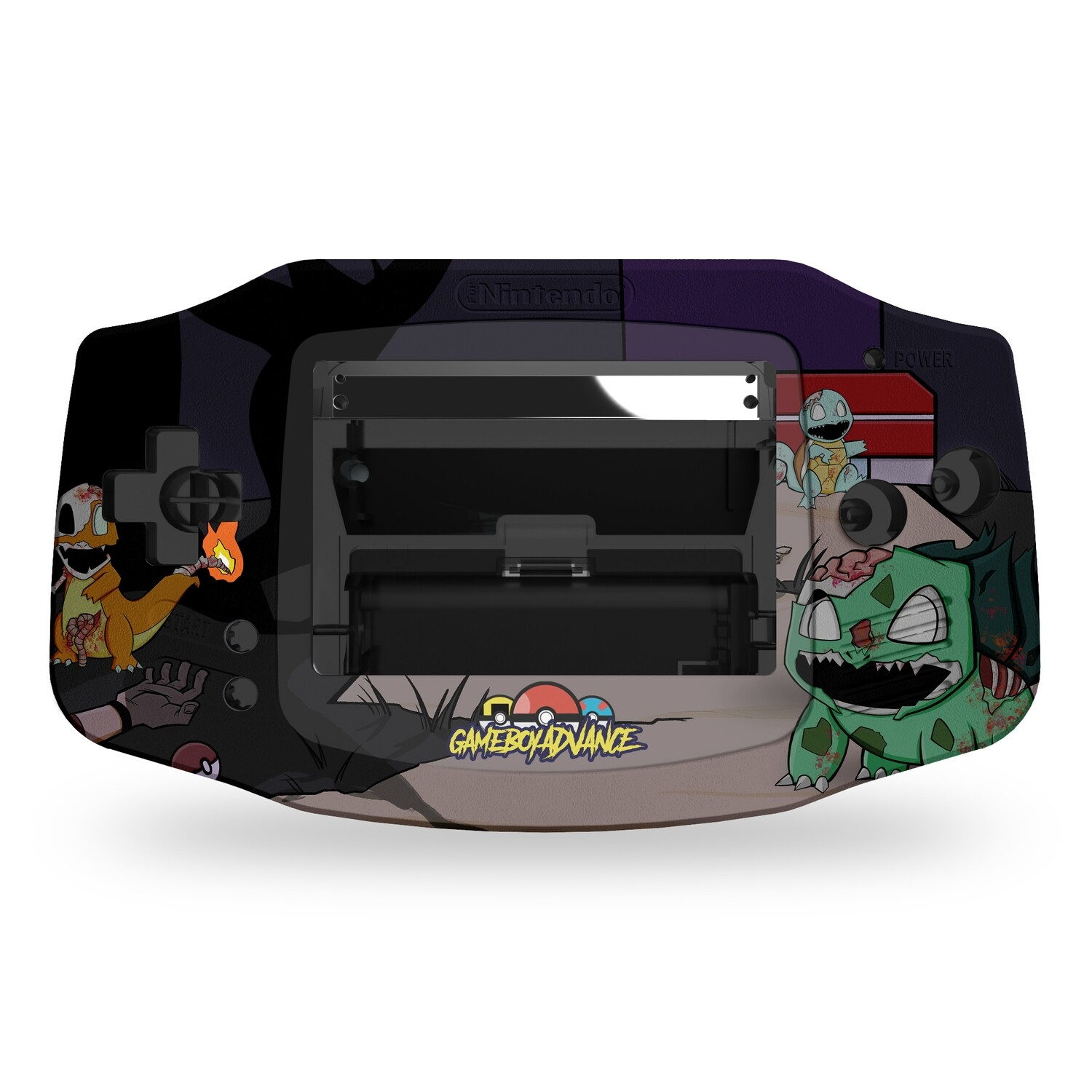 Game Boy Advance Printed Shell (Zombiemons)