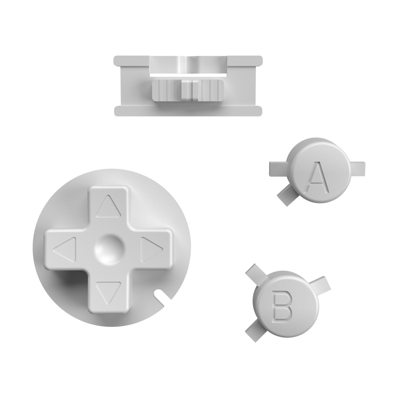Game Boy Color Buttons (RetroSix Grey)
