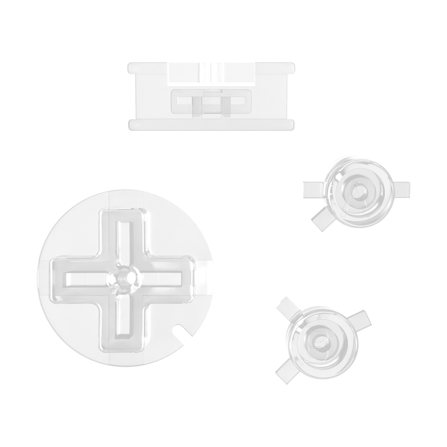 Game Boy Color Buttons (Clear)