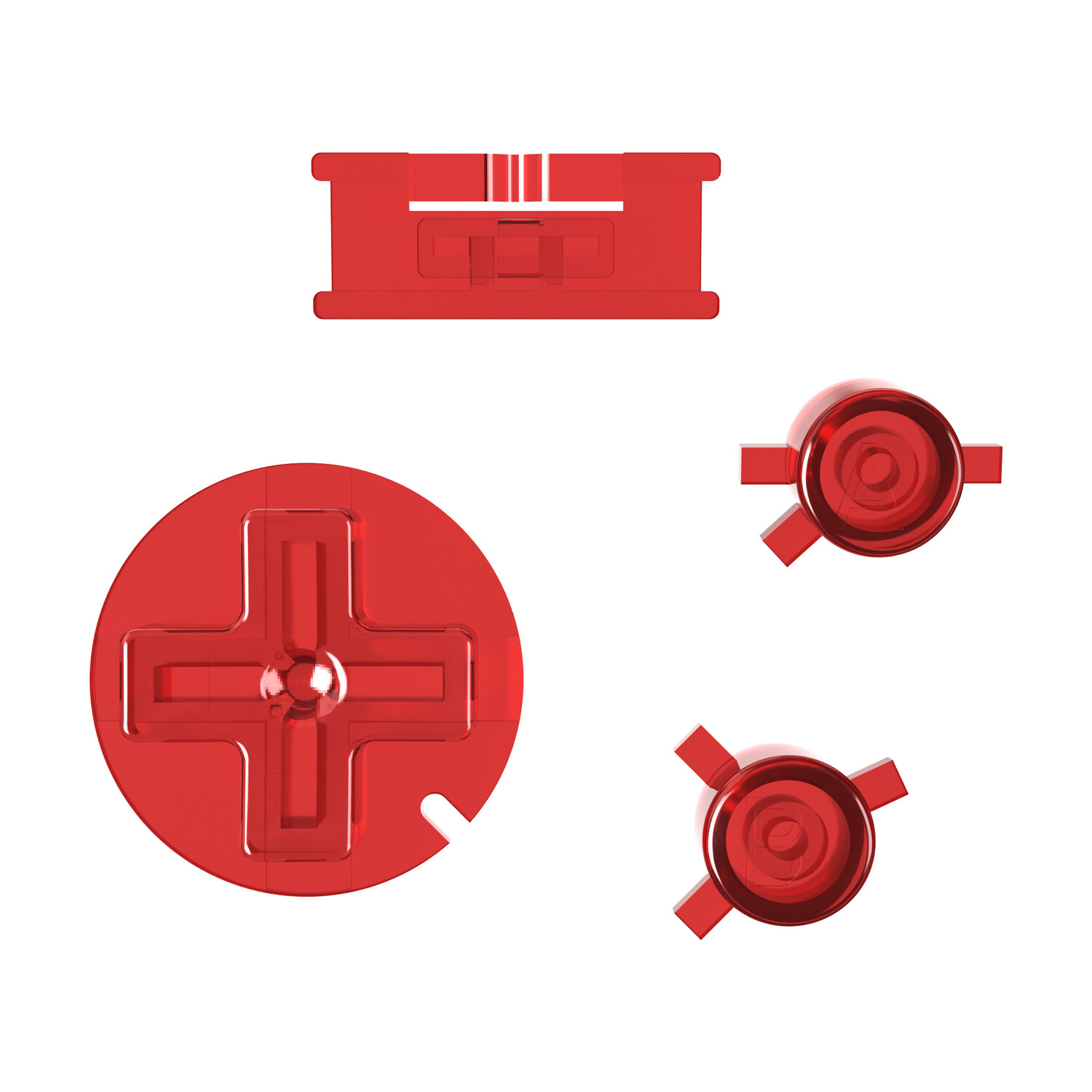 Game Boy Color Buttons (Clear Red)