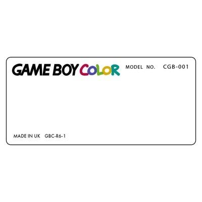 Game Boy Color Back Sticker (Design Your Own)