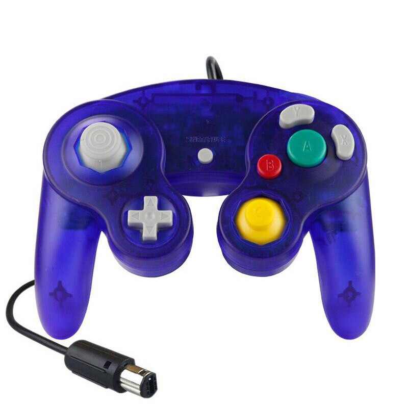 GameCube Controller Wired (Clear Dark Blue)