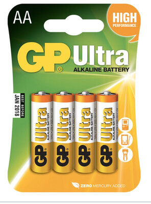 GP Ultra AA Batteries X4