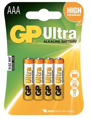 GP Ultra AAA Batteries X4