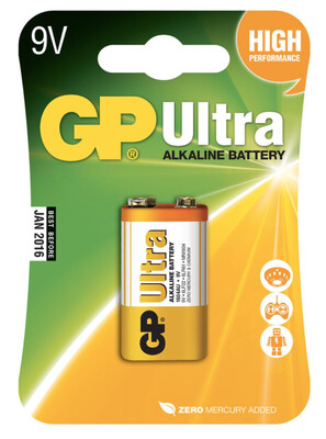 GP Ultra 9v Pp3 Battery