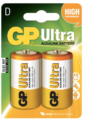 GP Ultra D Batteries X2